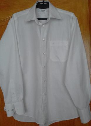 Белая мужская рубашка melka. швеция, 41 р