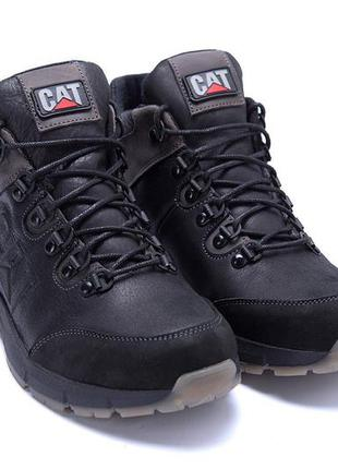 Кроссовки ботинки кожаные зима мужские