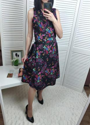 Платье-миди на запах  с бисером uttam london