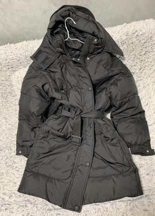 Куртка пуховик оверсайз черная