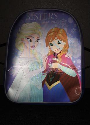 Детский рюкзачок рюкзак фрозен холодное сердце , анна, эльза
