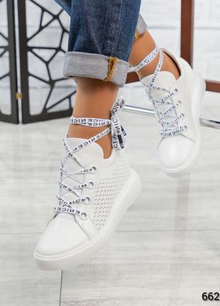 ❤ женские белые кожаные сникерсы кроссовки ❤