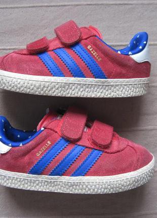 Adidas gazelle 2 (24) замшевые кроссовки детские оригинал