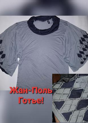 Оригинал! жан-поль готье блуза летучая мышь широкие рукава топ