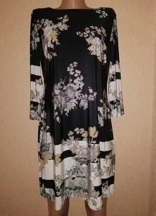 🔥🔥🔥красивое женское короткое платье, туника в цветочный принт ...