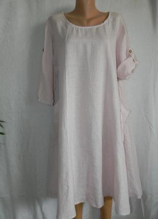 Итальянское льняное платье в стиле бохо