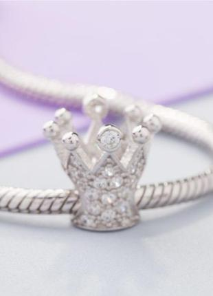 Шарм серебро 925 в стиле пандора корона п006