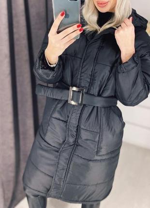 Куртка-пальто с поясом