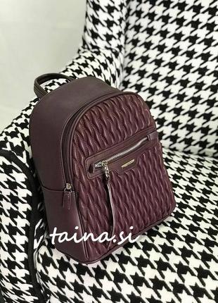 Рюкзак david jones 6152-4t d. purple оригинал городской стеган...