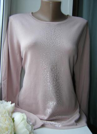 Нарядный пуловер пудра m-l-размер