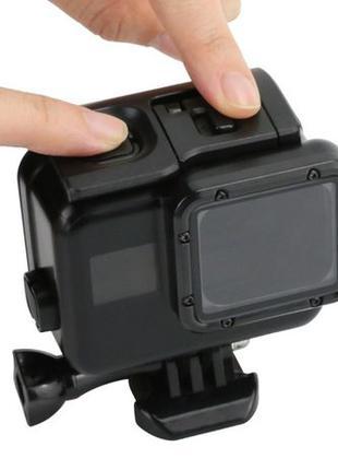 Аквабокс, бокс для экшн камеры GoPro HERO 5/6/7 (Матовый черный)