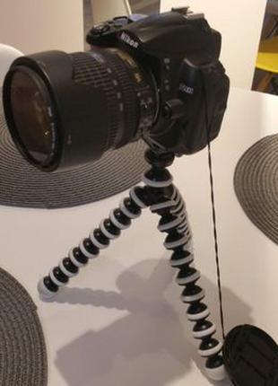 Гибкий штатив осьминог GorillaPod 26см +держатель для смартфона