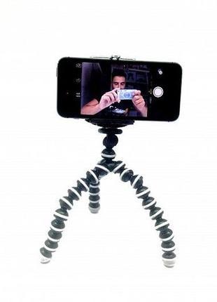 Мини гибкий штатив тринога осьминог+держатель для смартфона