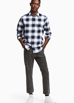 Чёрные джинсы h&m , straight cropped jeans !