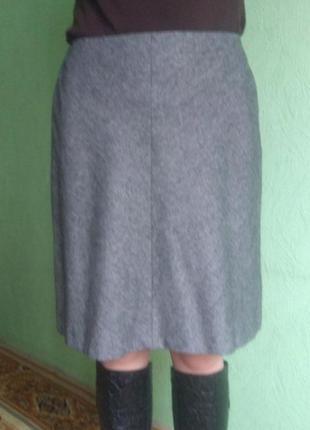 Распродажа 🔥стильная серая юбка шерсть marks & spenser р. 10
