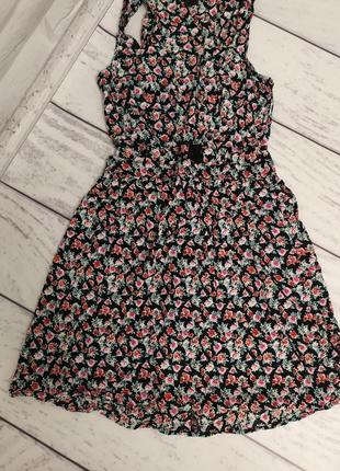 Летнее платье, сарафан розочки, размер s