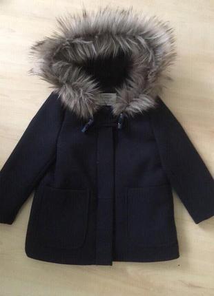 Пальто на девочку 104 см Zara