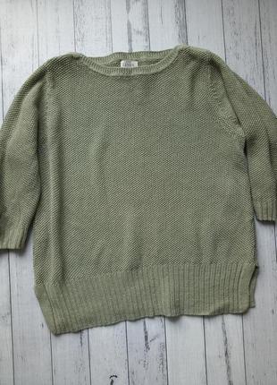 Льняной свитерок