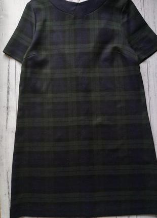 Платье прямое трапеция в клетку