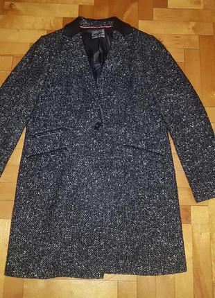 🔥🔥🔥шикарное стильное пальто с кожаными вставками next в идеаль...