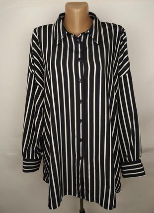 Блуза трендовая в полоску большой размер marks&spencer uk 18/4...
