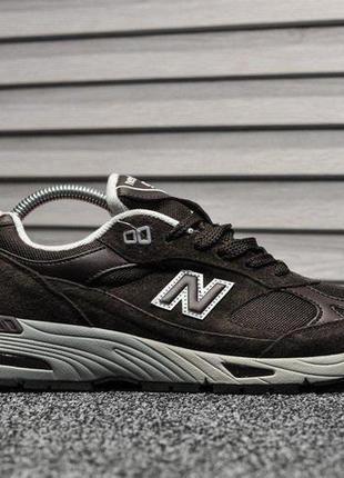 New balance 991 brown, мужские коричневые замшевые кроссовки н...