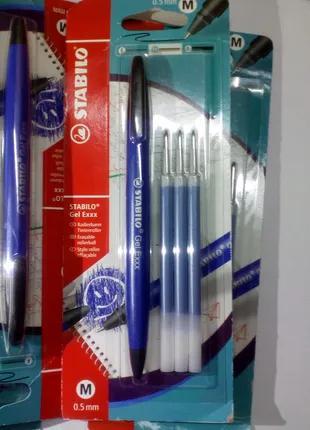 Ручка шариковая (гелевая) и 3 стержня 6 комплектов