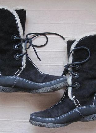 Clarks (37) зимние замшевые полусапожки ботинки женские