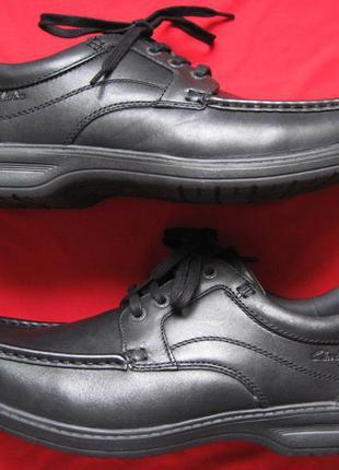 Clarks keeler walk (45) кожаные полуботинки туфли мужские