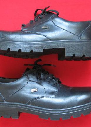 Rieker (42) кожаные мембранные ботинки мужские