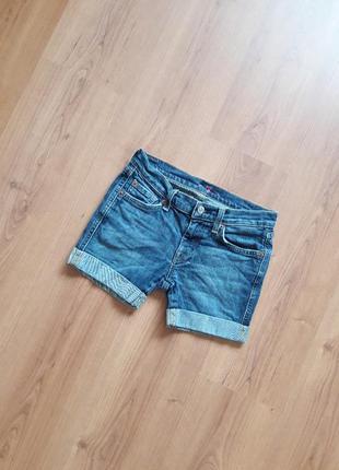 Джинсовые шорты с отворотом, на 12 лет