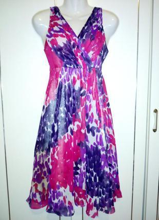 Распродажа! яркий шифоновый сарафан платье от vila