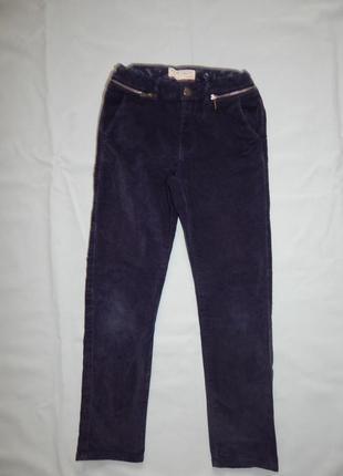 Zara kids джинсы велюровые стильные модные на девочку 9 лет ро...