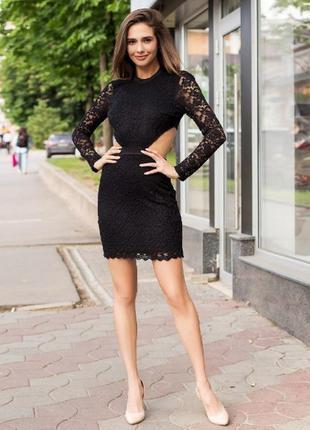 Платье гипюровое с открытой спиной