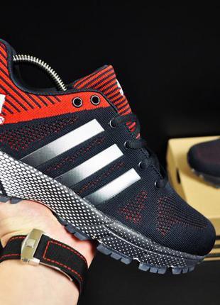 Кроссовки adidas fast marathon арт 20714 (мужские, синие, адидас)