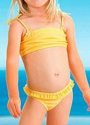 Детский пляжный комплект: купальник бикини и солнцезащитные очки