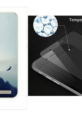 Комплект: Чехол бампер и защитное стекло для Xiaomi redmi 5A