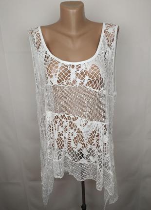 Блуза накидка кружевная итальянская