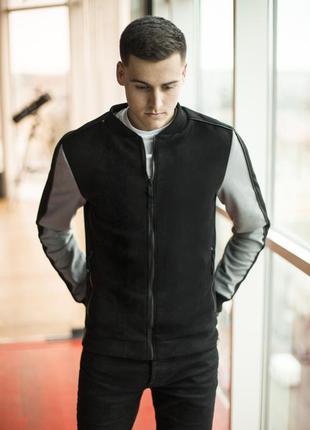 Куртка pobedov bomber molodost black gray
