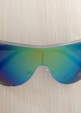 Мужские солнцезащитные очки(маска) с металлической оправой