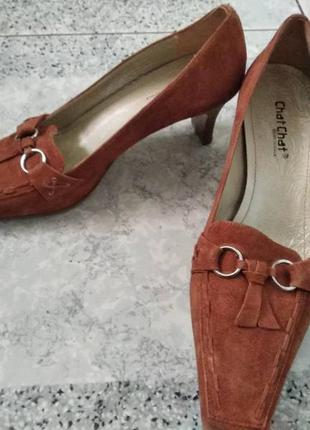 Замшевые туфли сhat chat кожа италия