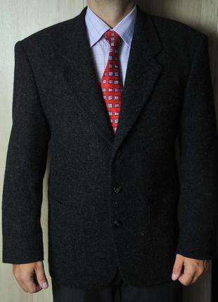 Мужской шерстяной классический пиджак