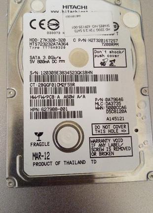 """Жесткий диск для ноутбука Hitachi 320gb / 7200 rpm / 2.5 """""""