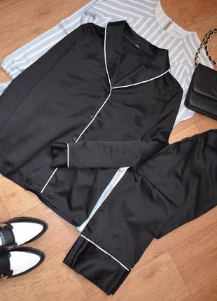 Tezenis брючная шелковая пижама под шелк нежная со штанами для...
