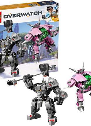 LEGO Overwatch D.Va и Рейнгардт, 455 деталей