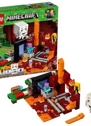 LEGO Minecraft The Nether Portal, Лего Майнкрафт 470 деталей