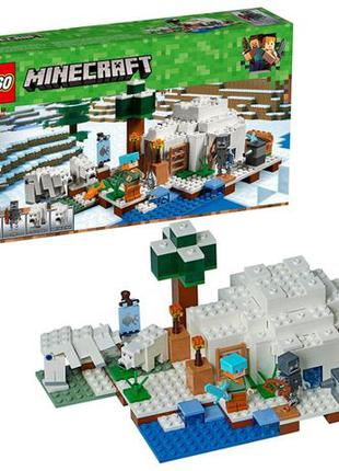 LEGO Minecraft The Polar Igloo, Лего Майнкрафт, 278 деталей