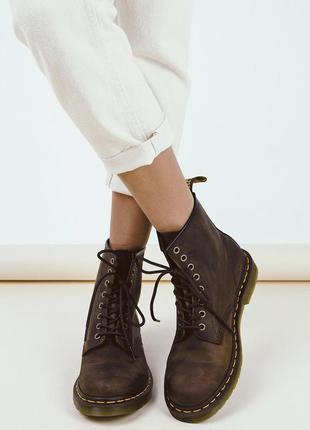 Новые кожаные сапоги dr martens 11822203 1460 gaucho crazy hor...