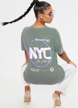 Ликвидация товара 🔥 темно серая оверсайз футболка с надписью