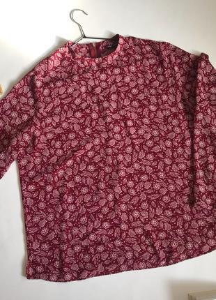 Блуза вишнёвая в цветочный принт atmosphere